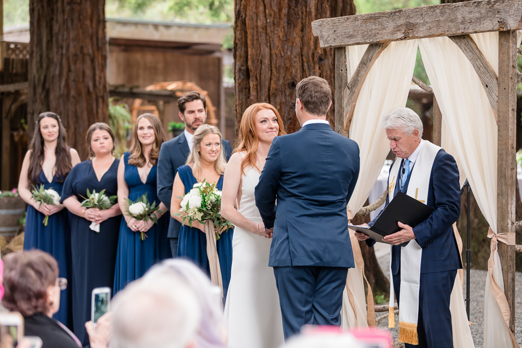 Fairfax outdoor wedding ceremony