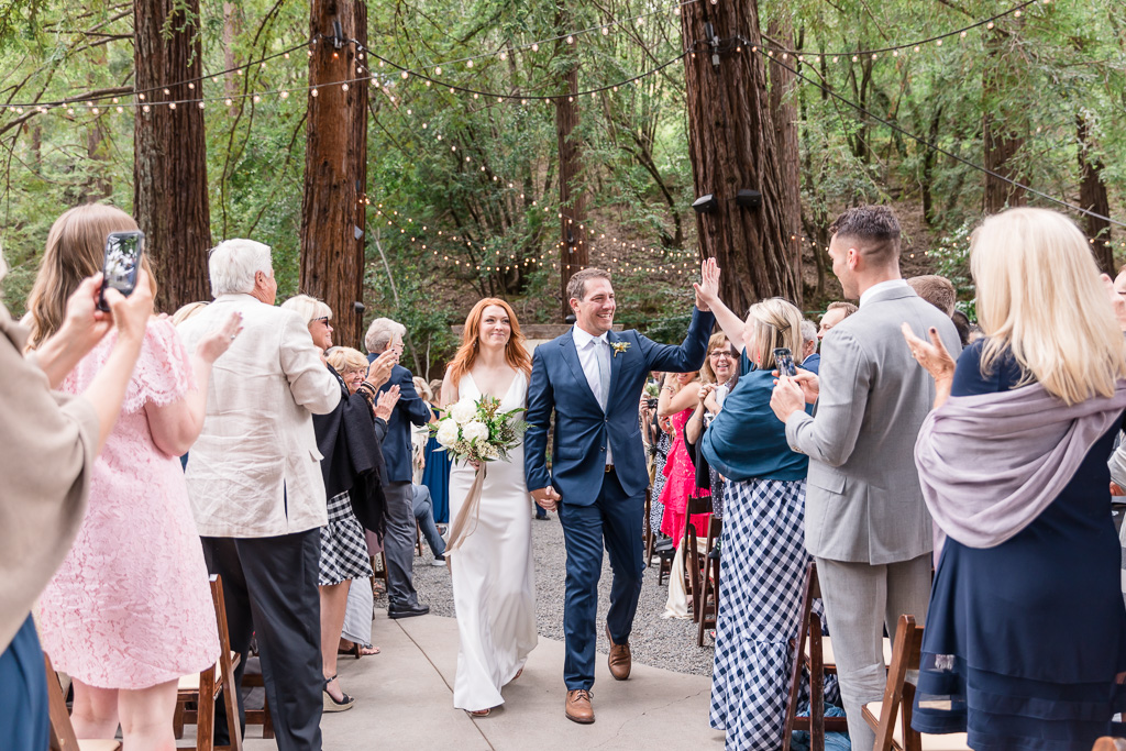 deer park villa wedding recessional
