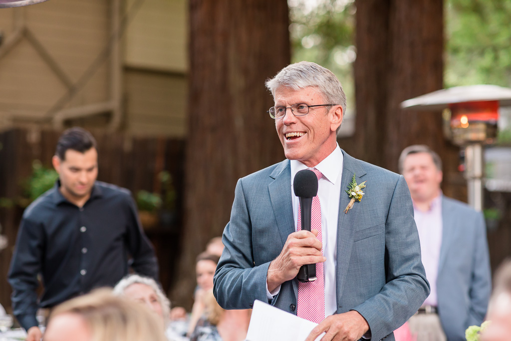 father of the bride speaking