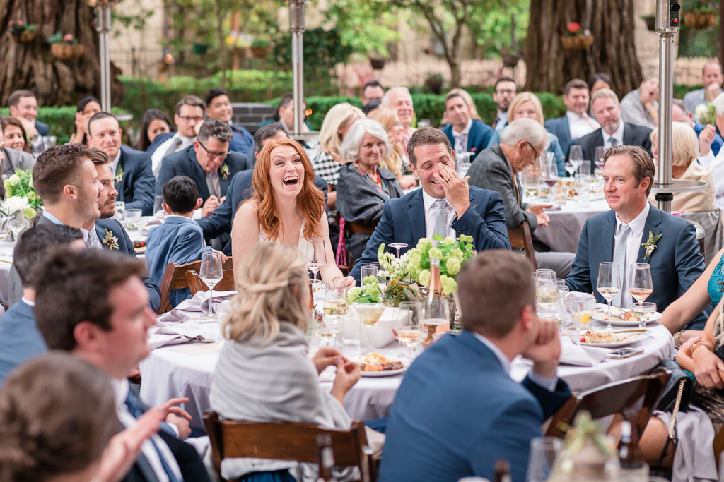 bride and groom laughing and crying at the same time - Deer Park Villa wedding