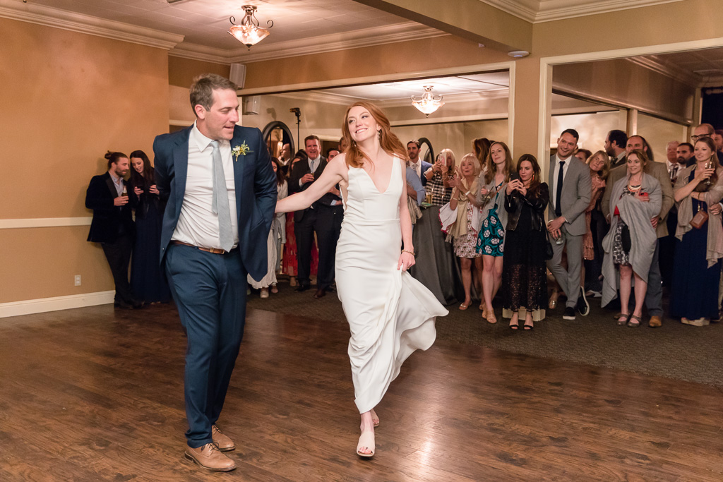 bride and groom owning the dance floor