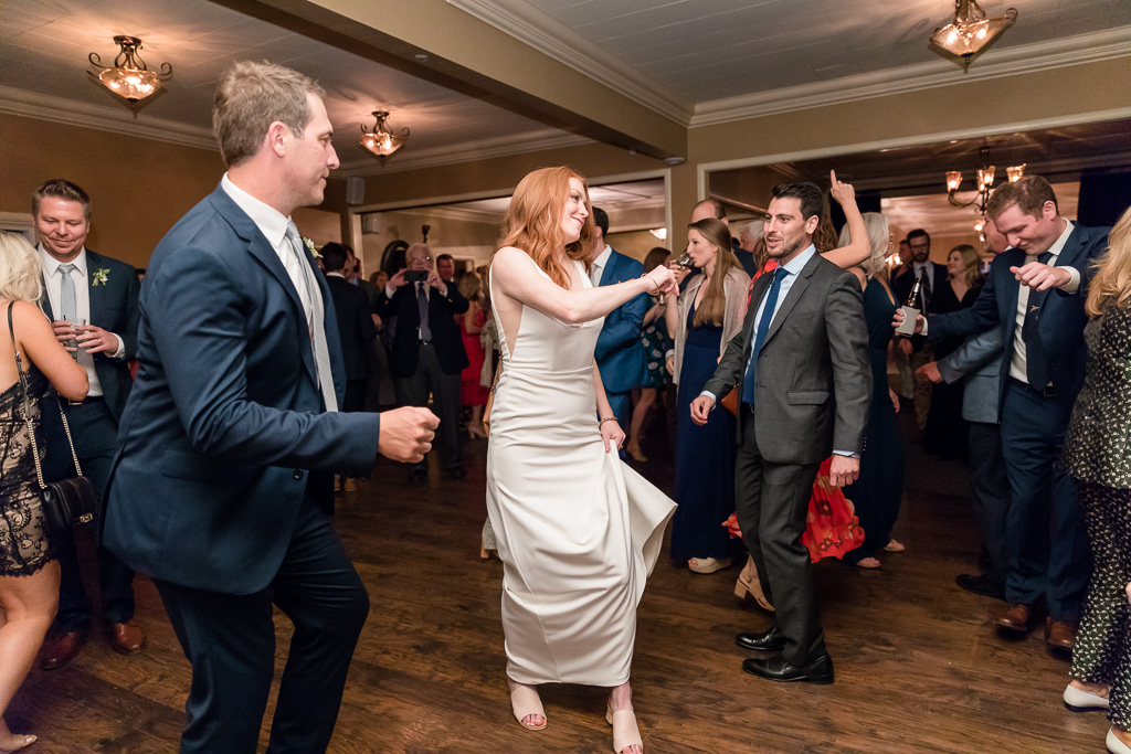 bride shows her dance moves