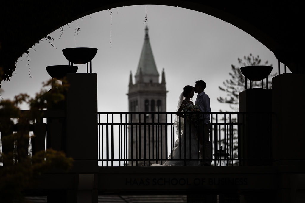 Berkeley Sather Tower wedding picture