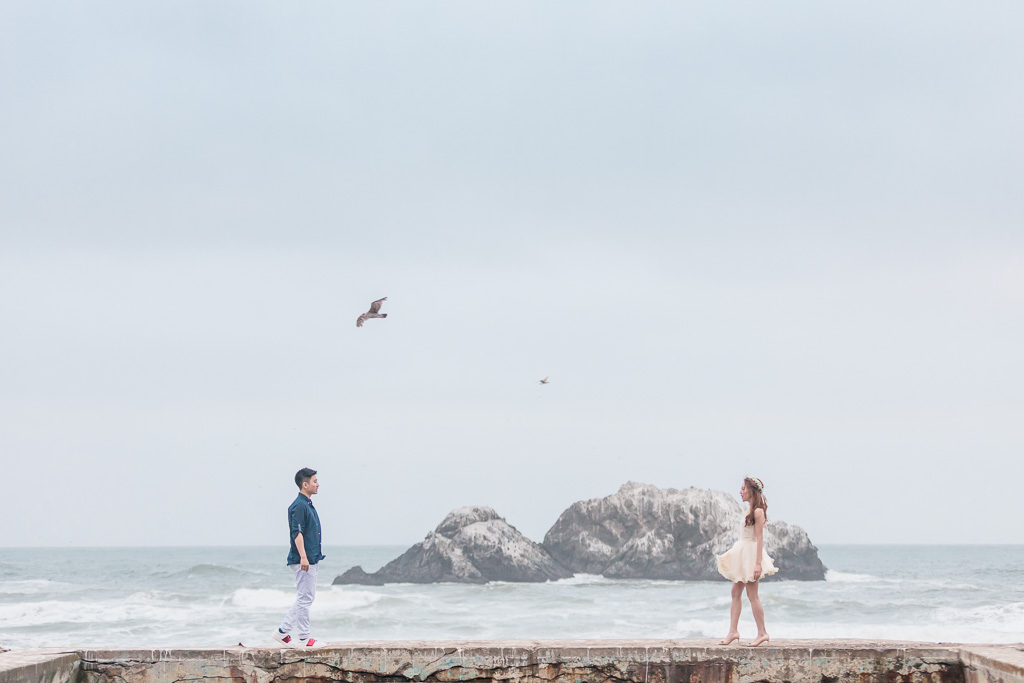foggy lands end save the date photo