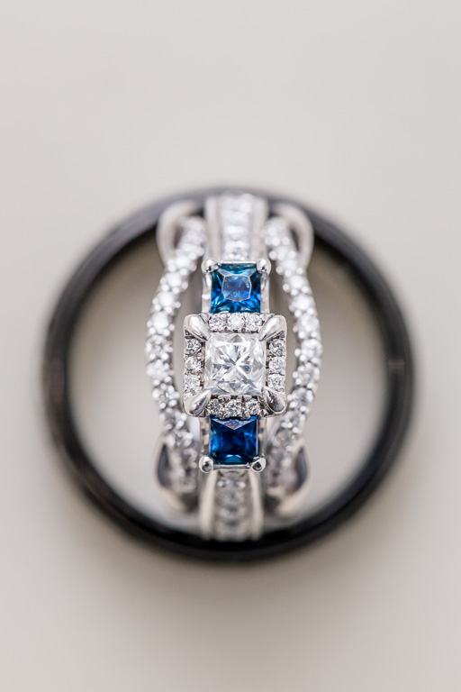 wedding ring set - a little something blue