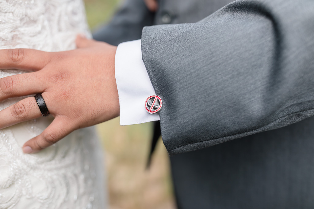 we love personal details like this one - cute cufflinks