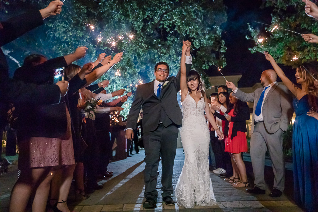 sparkler exit for a San Jose private residence wedding