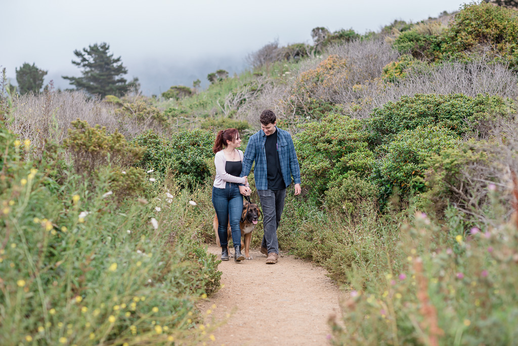 Mori point hiking trail couple portrait