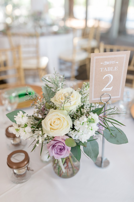 classic and elegant floral centerpiece for a Fairview wedding