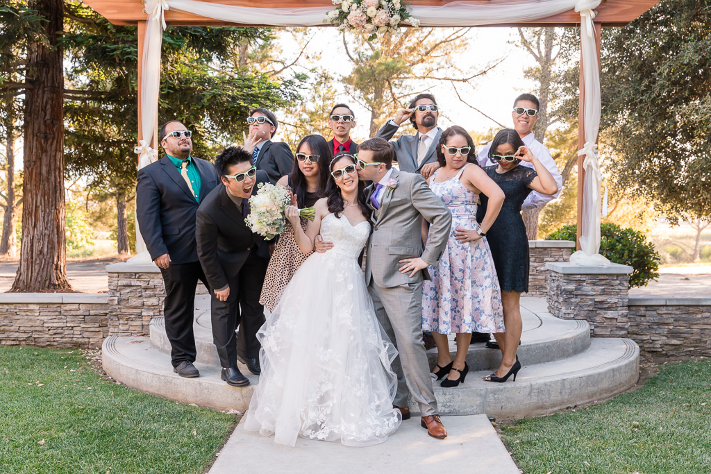 funny group photos of the goofy newlyweds and their friends