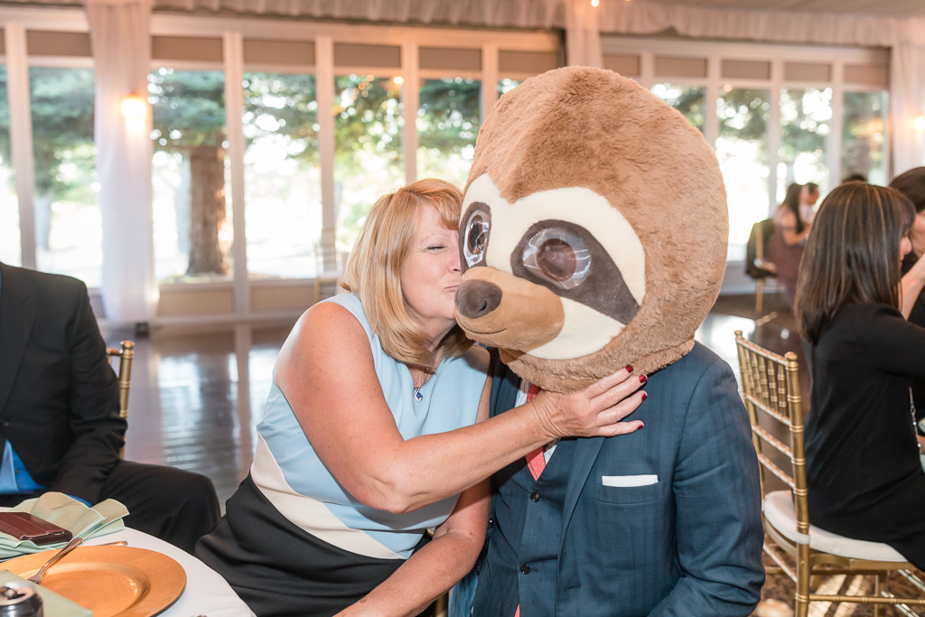 fun photo booth prop for the reception photo