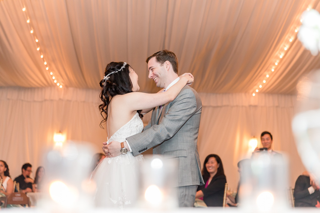 a romantic newlywed first dance