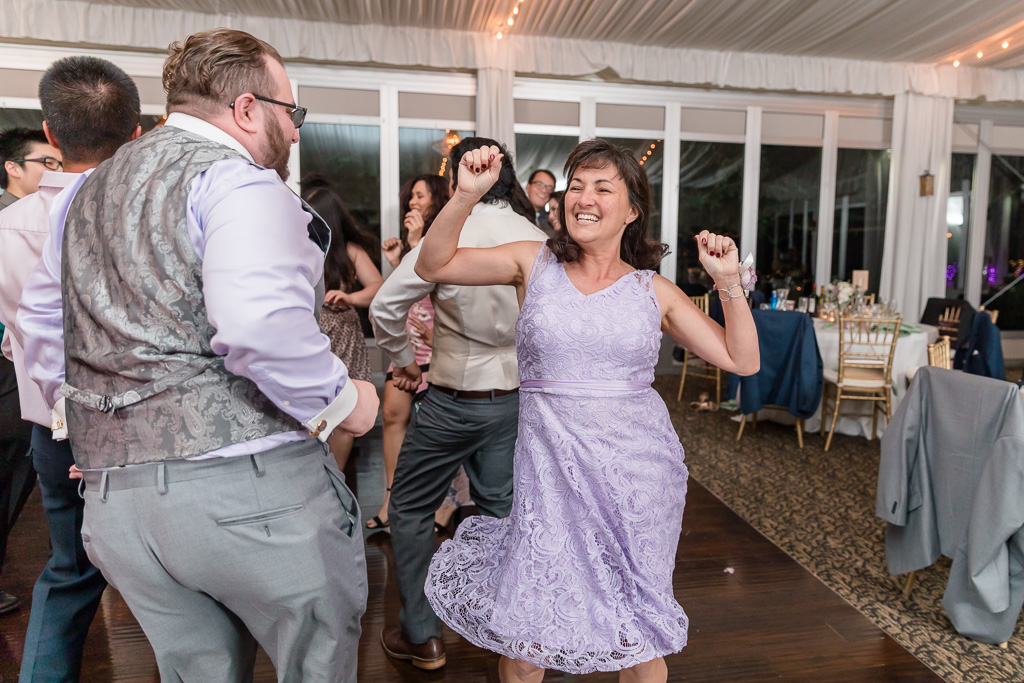 wedding guests having so much fun dancing the night away