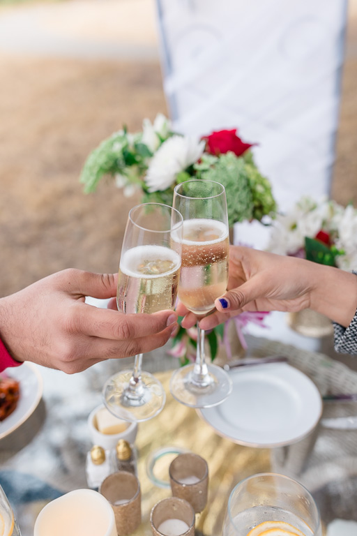 a toast by the couple who just got engaged