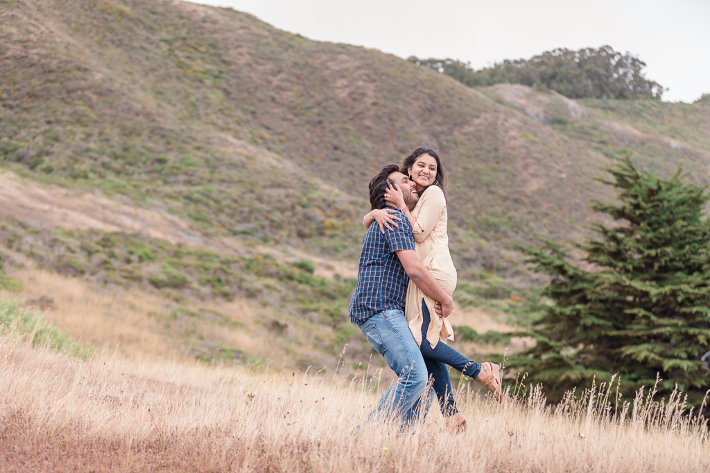 marin headlands engagement photo