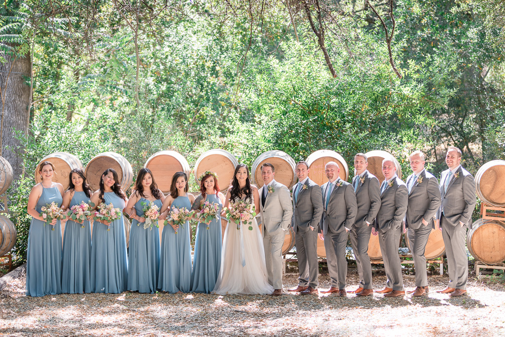 wedding photo with the bridal party