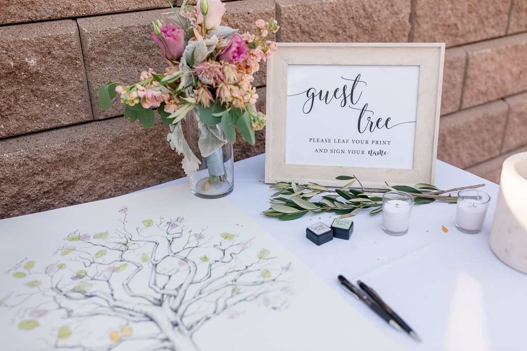 sign-in wedding tree canvas