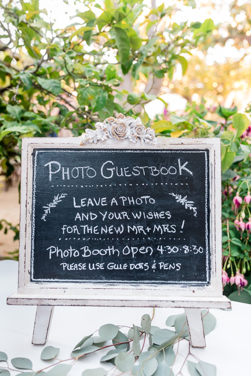 Guest book chalkboard sign