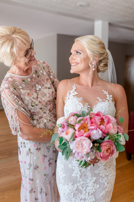 sweet photo of the bride and her mom