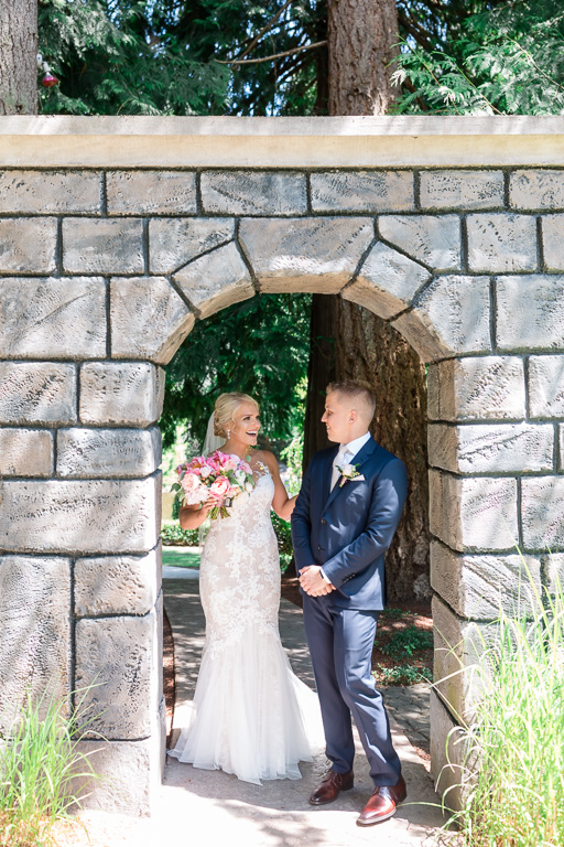 Rock Creek Gardens wedding first look