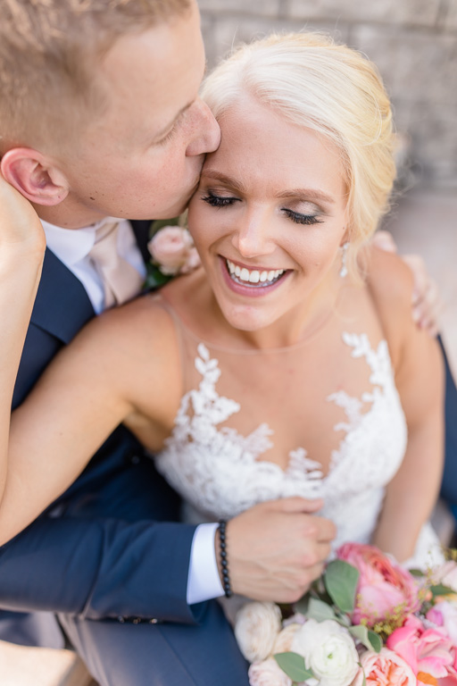 gorgeous wedding couple close-up at Puyallup