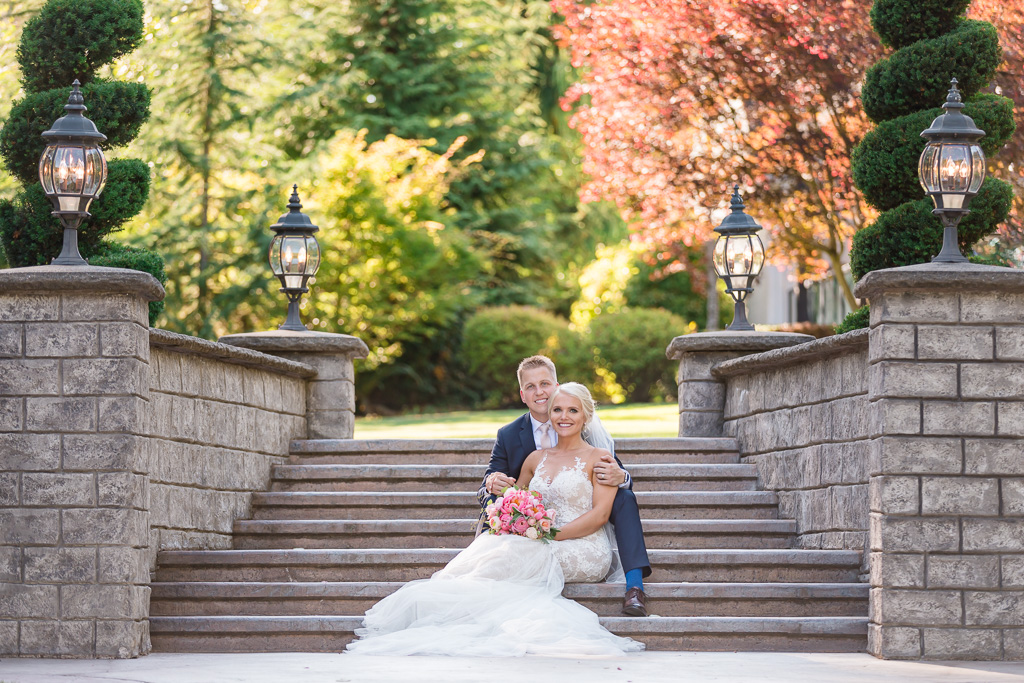 rock creek gardens wedding portrait