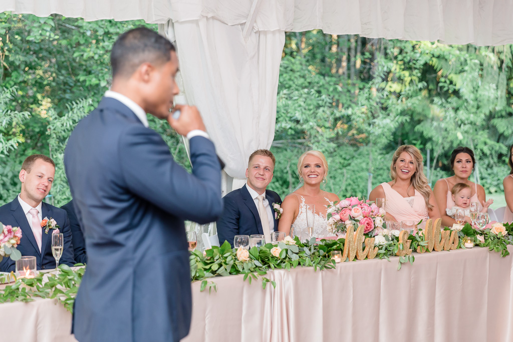 groomsman making a toast