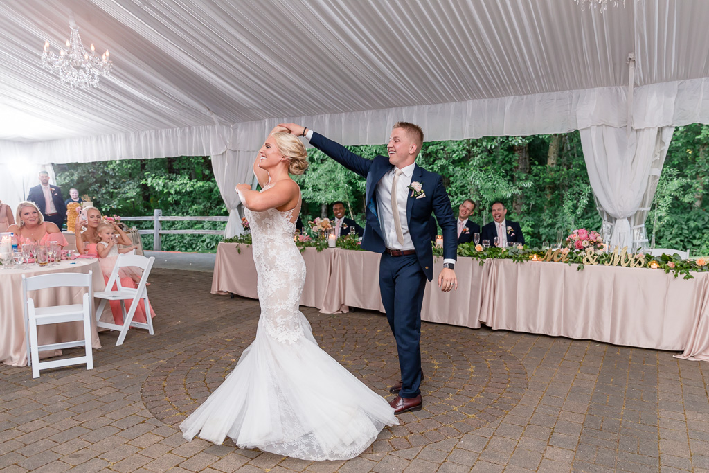 a beautifully choreographed first dance