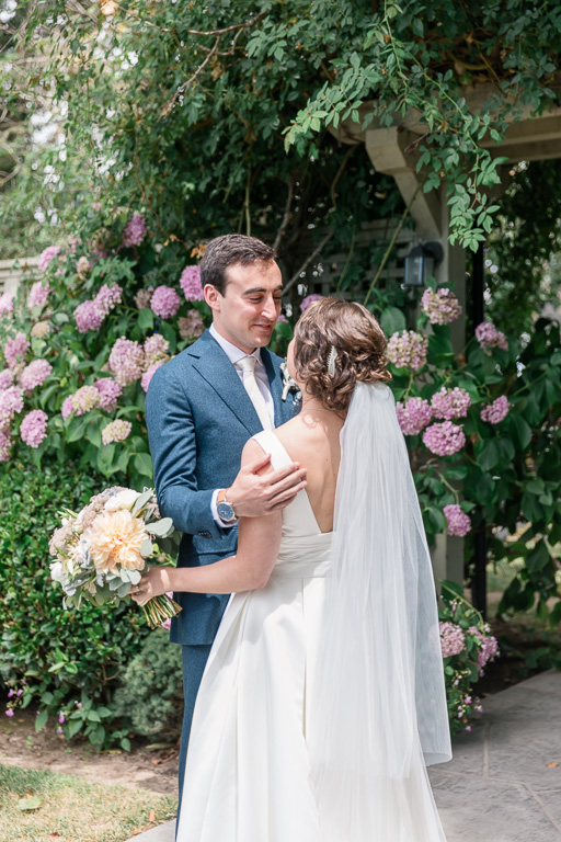 candid moment for the bride and groom - Bay area wedding photographer
