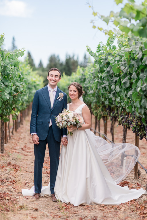 gorgeous wedding portrait inside the Vine Hill House vineyards