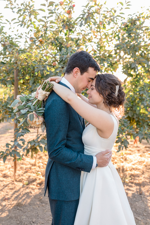 Vine Hill House wedding in the apple orchard