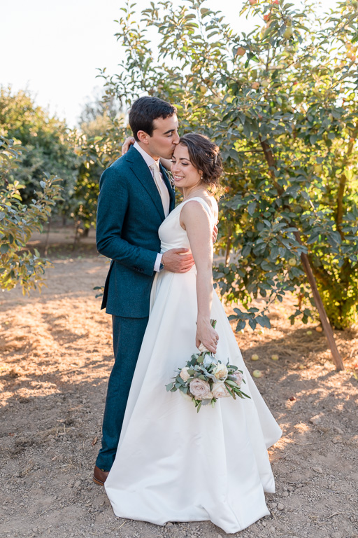 Bay Area apple orchard wedding