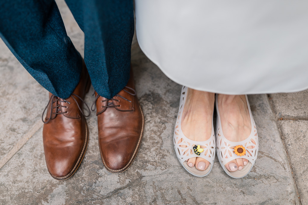 non-traditional Crocs wedding shoes!