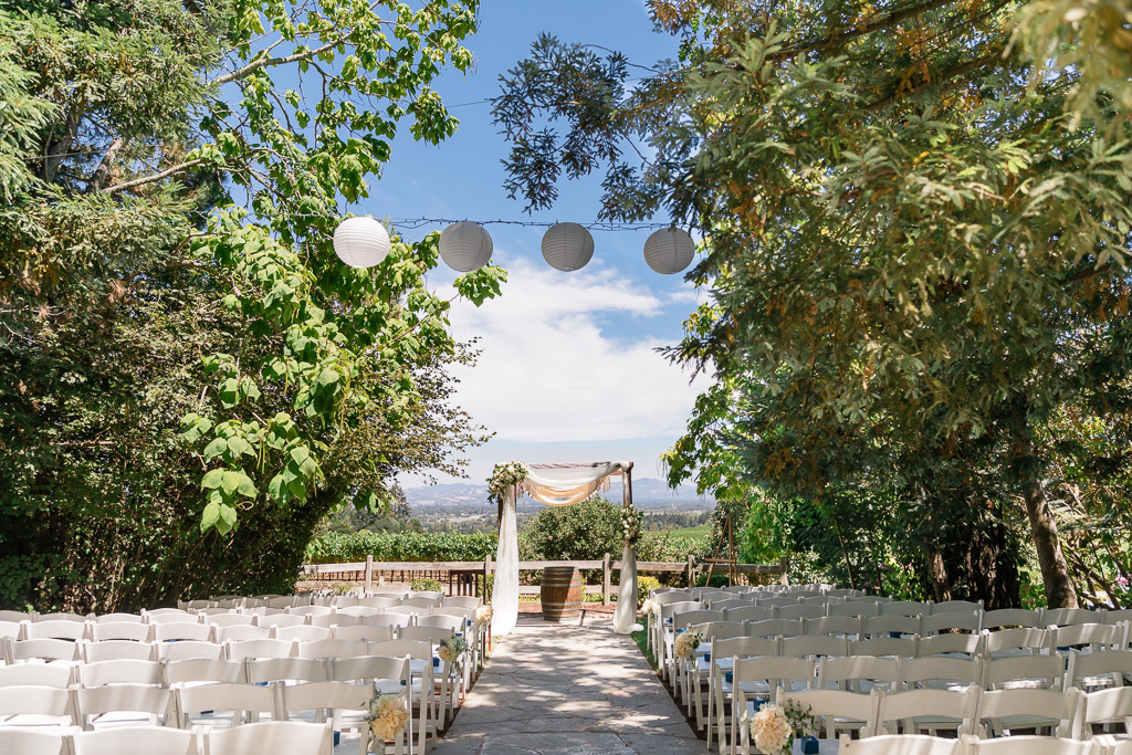 Wine Hill House ceremony site overlooking the mountains