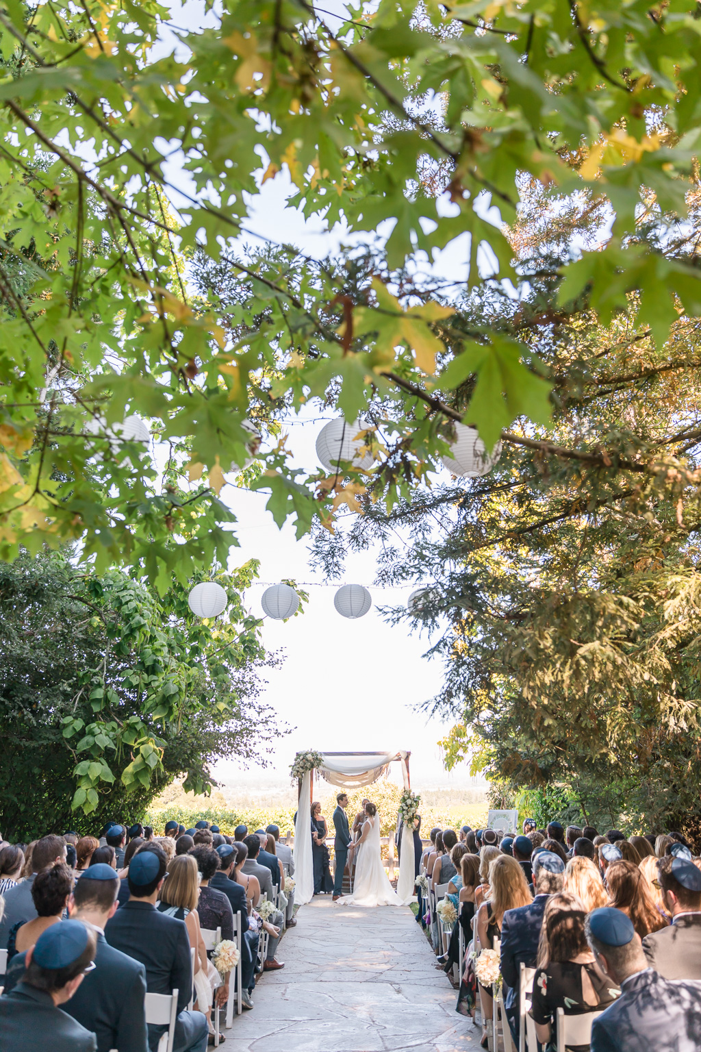 Vine Hill House wedding ceremony