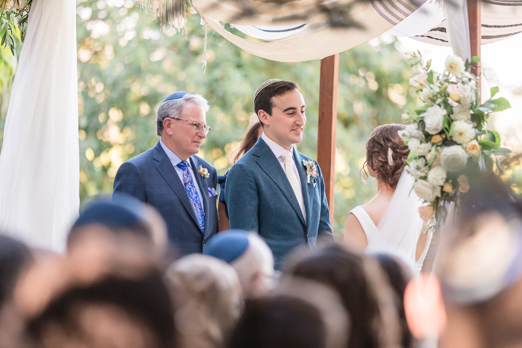a beautiful outdoor wedding ceremony in Sonoma Wine Country