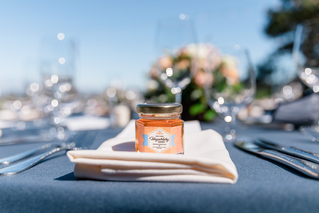 homemade honey as wedding favors