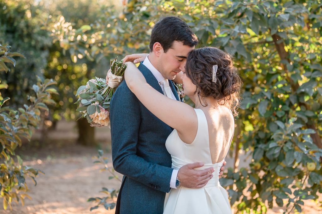 Sonoma orchard summer wedding