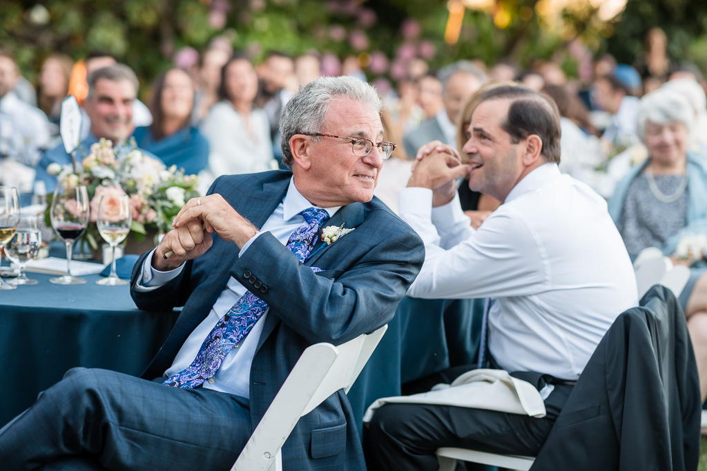 groom's dad was so happy and proud