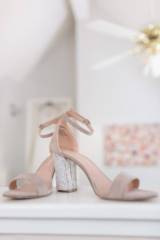 elegant nude blush wedding shoes