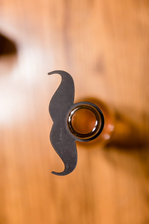 cute beer bottle mustache
