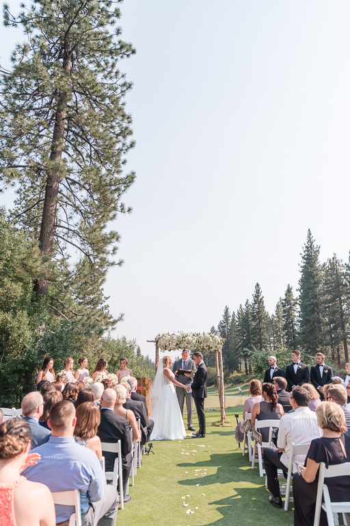 wedding ceremony site at The Chateau at Incline Village