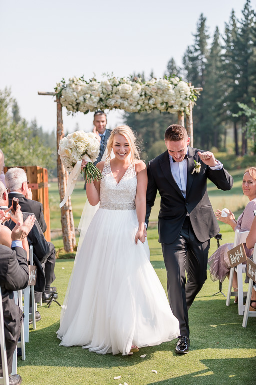 the happy recessional at Chateau at Incline Village