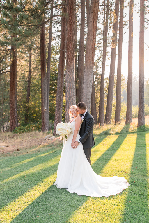 Lake Tahoe wedding portrait in a dreamy magical forest