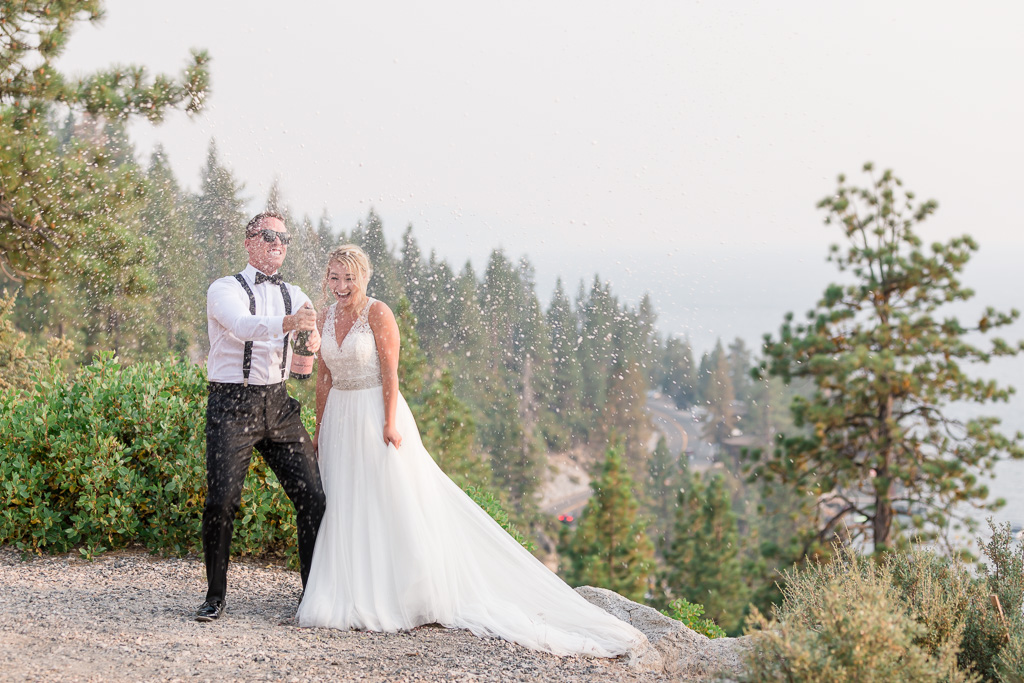 best Lake Tahoe wedding photographer captures fun candid moments perfectly
