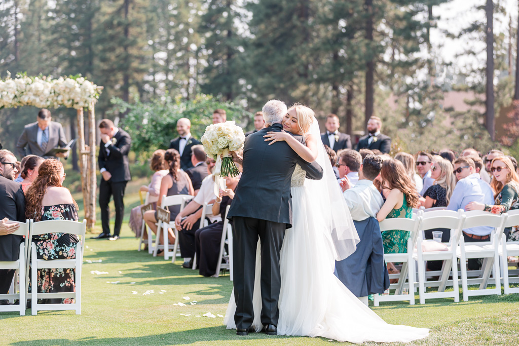 beautiful wedding ceremony moment at The Chateau at Incline Village