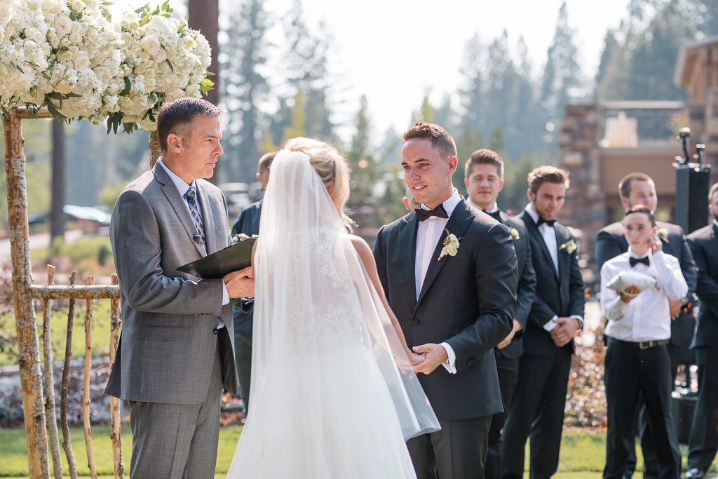 groom during the ceremony