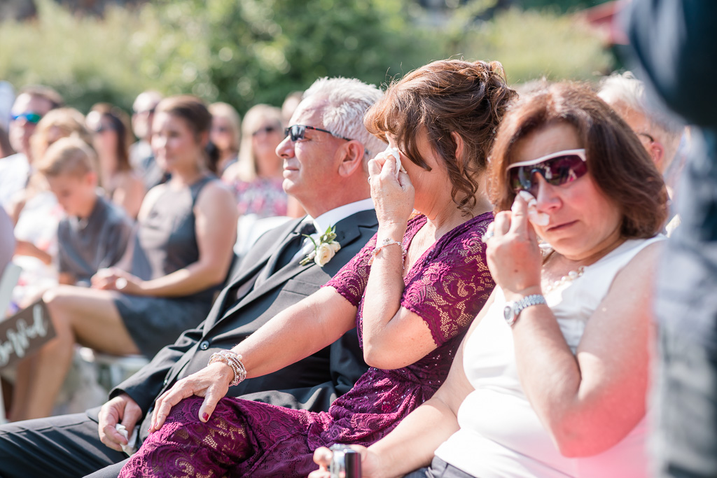 parents got emotional during the ceremony