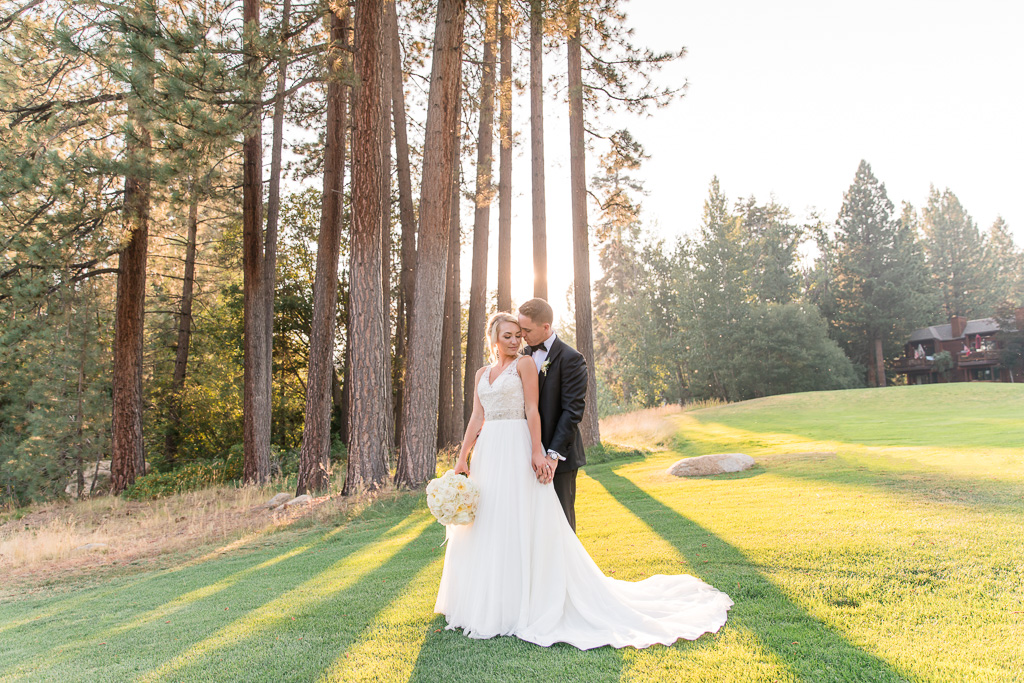 breathtaking Lake Tahoe wedding photo in the woods