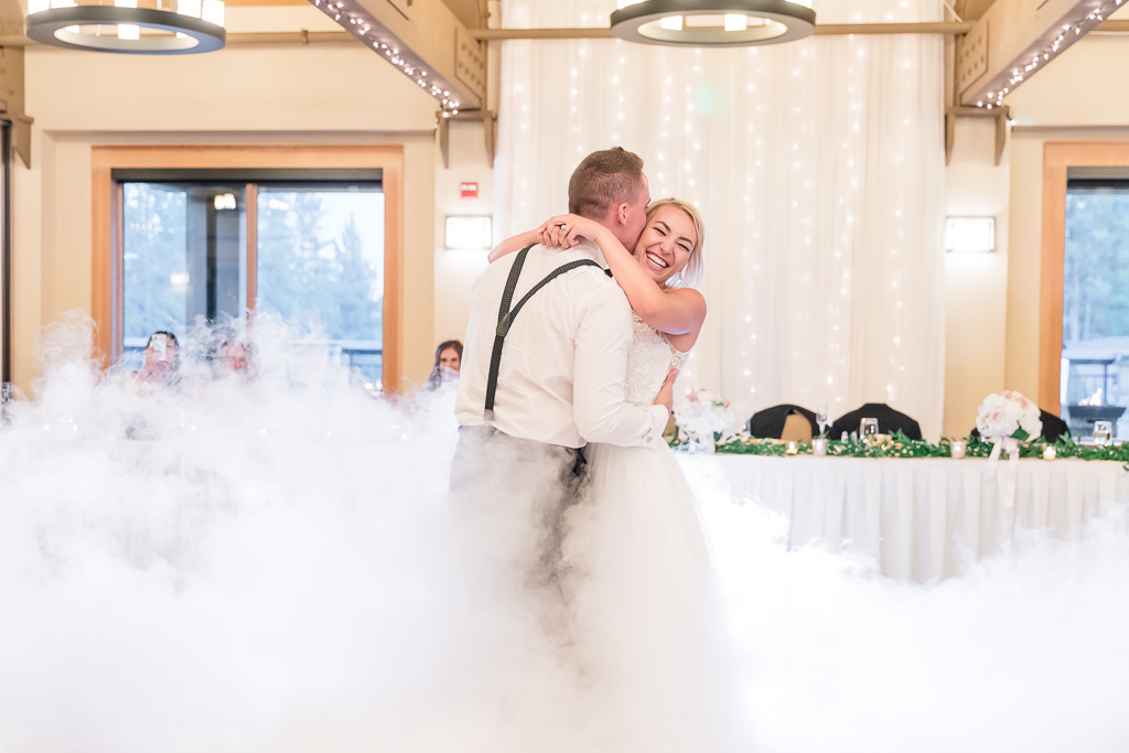 first dance in a cloud at The Chateau at Incline Village